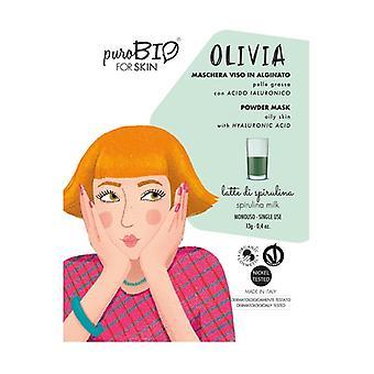 Olivia Peel off ansiktsmask - spirulina mjölk fet hud - 12 13 g pulver