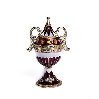 Brown Music Playing Faberge Egg With Wings-trinket Box