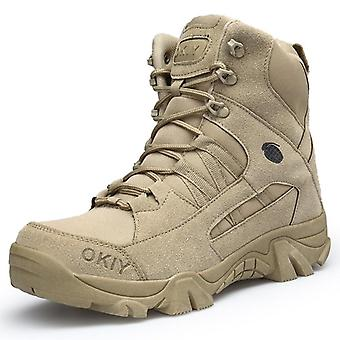Military Ankle Boots, Men Outdoor Genuine Leather Tactical Combat Army Hunting