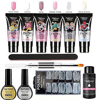 Poly Uv Gel Manicure Set Extend Builder Poly Nail Gel Kits Finger Nail