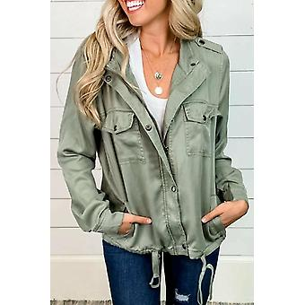 Casual Utility Double Chest Pockets Jacket