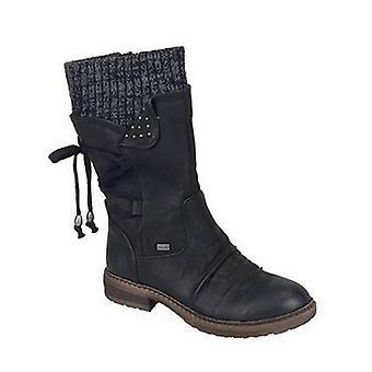 Jesień wczesna zima flat heel boot, moda dzianie patchwork botki