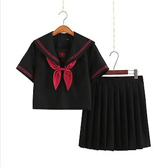 Japanese School Uniforms For - Long-length Sailor Tops Pleated Skirt Sets