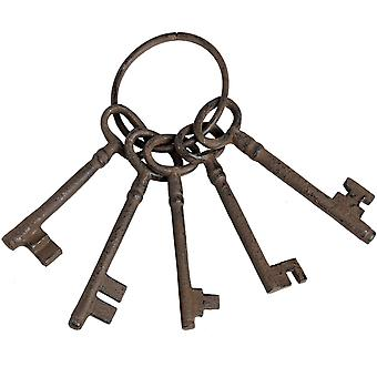 Hill Interiors Rustic Cast Iron Key Bunch