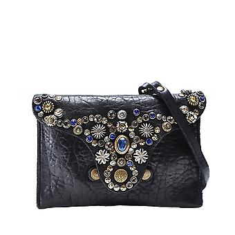 Campomaggi Embellished Leather Pouch
