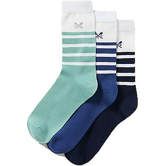 Crew Clothing Mens 3 Pack Breathable Bamboo Socks