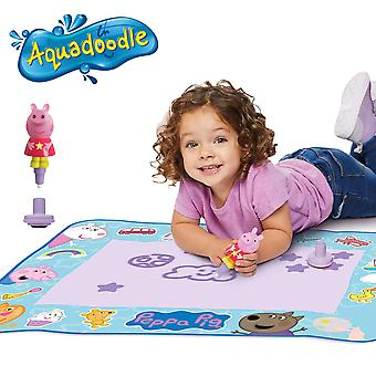 Aquadoodle peppa pig water doodle mat, ufficiale tomy no mess coloring & drawing game, adatto per