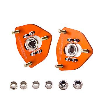 2x Camber Plates For Nissan Silvia S13 S14 180SX 200SX Front Coilover Top Mount