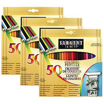 Colored Pencils, 50 Per Pack, 3 Packs