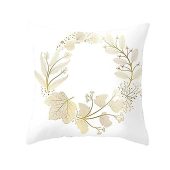 Tropical Leaf Flower Green Yellow Pillowcase Polyester Cushion Cover