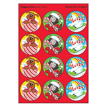 Autocollants stinky Holiday Pals/Peppermint, 48 Count