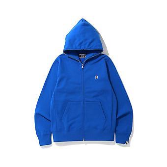 Bape One Point Full Zip Hoodie Blue - Vêtements