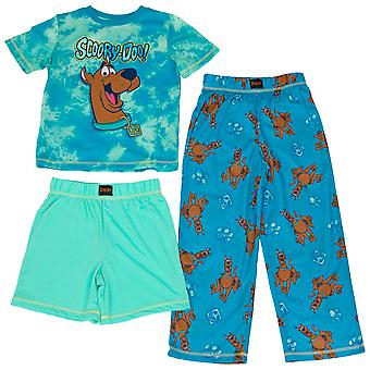 Scooby Doo Character Head and All Over 3-Piece Pajama Set