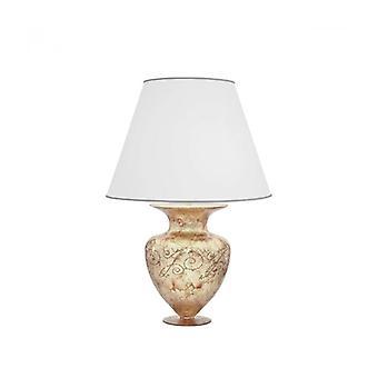 Lámpara De Mesa De Diseño Anfora Cromo 1 Bombilla Silver Medici