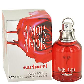 Amor Amor Eau De Toilette Spray por Cacharel 1 oz Eau De Toilette Spray