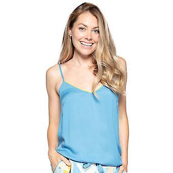 Cyberjammies Phoebe 4821 Dames Blauwe Modal Cami Pyjama Top