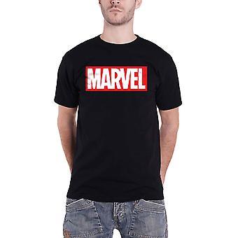 Official Marvel T Shirt Classic Box Logo new Official Mens Black