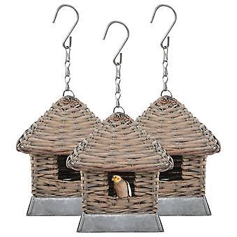 vidaXL Birdhouse 3 st. Korg pil
