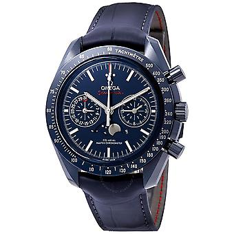 Omega Speedmaster Blue Ceramic Dial Automatic Men's Moonphase Watch 304.93.44.52.03.001