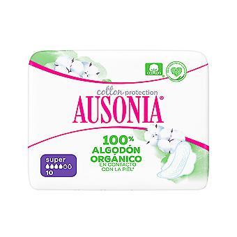 Ausonia Ausonia Orgaaninen Compresas Super Alas 10 Uds Naisille