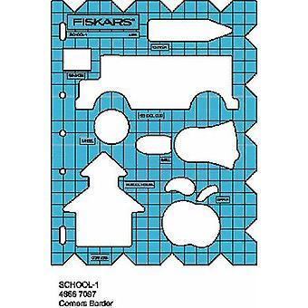 Fiskars Shape Cutter Template - School