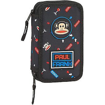 Double Pencil Case Paul Frank Retro Gamer Black (28 pcs)