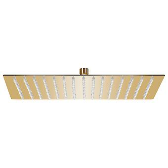 vidaXL Rain shower stainless steel 40x40 cm square golden