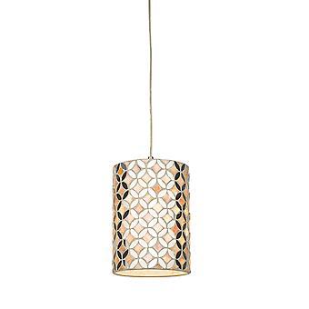 Cilindrische Easy Fit Hanglamp Spiegel & Crème
