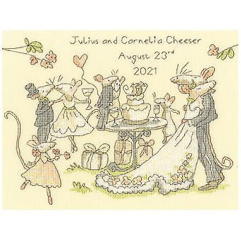 Bothy Threads Cross Stitch Kit - Mice Day For A White Wedding