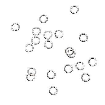 Silver Filled Anti Tarnish 4mm Open Jump Rings 20 Gauge (20)