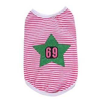 Dog cat clothes striped cotton vest two feet apparel spring summer