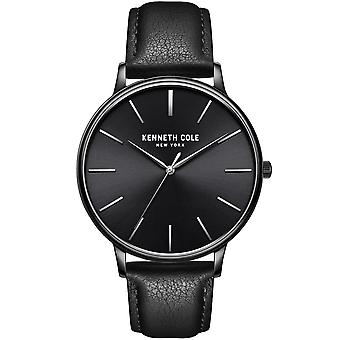 Kenneth Cole Kc51111003 Modern Classic Black Leather Mens Watch