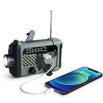 Manovella a mano radio portatile Am Fm Noaa Lampada di lettura di emergenza Torcia solare