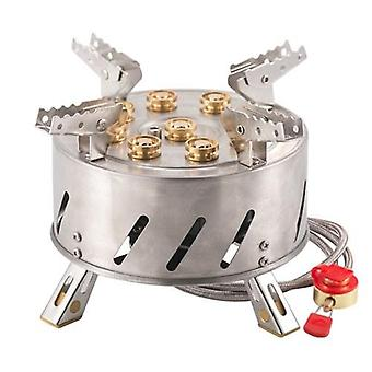 Self-Driving Tour Outdoor Stainless Steel 9-Head Stove Portable 9 Hole Fire And Brimstone Stove