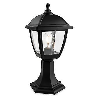 Firstlight Palma Outdoor Pedestal Light 4 Panneau Noir IP44, E27