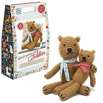 Knit Your Own Teddies Knitting Kit For Beginners