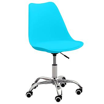 vidaXL bureaustoelen 2 st. blauw kunstleer
