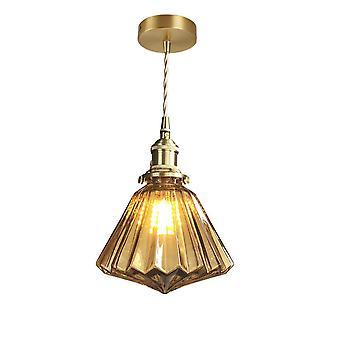 18CM Brass Glass Chandelier LED 5W 220V Brown
