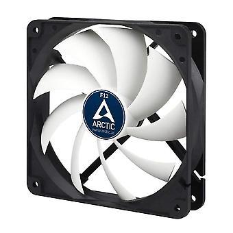 Arctic F12 Low Noise 12cm Case Fan, Black & White, 9 Blades, Fluid Dynamic, 6 Years