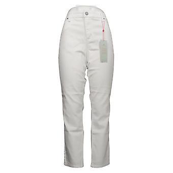 Laurie Felt Vaqueros de Mujer Silky Denim Colored Zip Fly Skinny White A374325