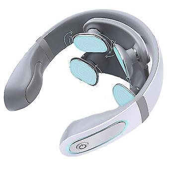 4 Bateria da cabeça massageador eletrônico de pescoço 4d shiatsu massageador cervical creme de pescoço duro massagem saúde terapia de saúde pulso alívio dor fa1738