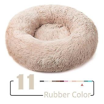 لون مطاطي جديد xs-40cm جولة أفخم القط منزل القط حصيرة الشتاء القطط النوم الدافئ عش لينة sm39010 طويلة