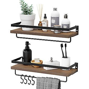 Wooden Wall Shelves Wall Mounted Storage Organizer Rack For Bedroom Living Room Kitchen Office