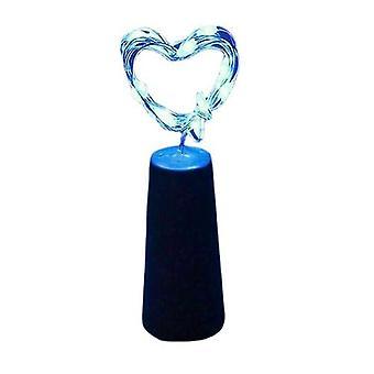 3st blå 20led krans koppar tråd corker sträng fairy ljus för glas hantverk flaska az12141
