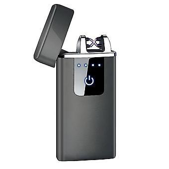 חדש hb-021-שחור אופנה כפולה קשת אלקטרונית מגע חכם בהיר USB אינדוקציה נטענת sm41901