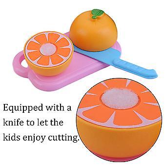 15 st/set A1501 Barn Låtsas leka Snittfrukt PlastGrönsaker Matleksaker