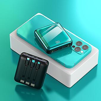 4 в 1 20000 мАч мини power bank портативное зарядное устройство led внешний аккумулятор Powerbank