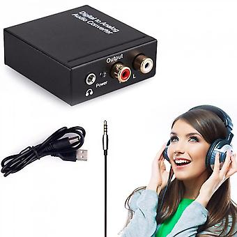 Digital Coaxial Toslink Optical To Analog L/r Rca Audio Converter Adapter