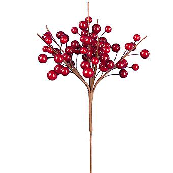 22cm Classic Berry Cluster - Red