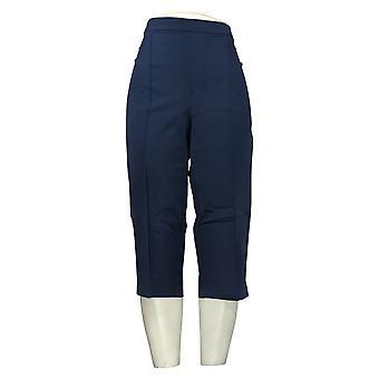 Isaac Mizrahi En direct! Pantalon pour femmes Poussoirs à pédales Pintucks Bleu A377474